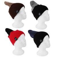 Fashion 4 Colors LZ117 Fashionable Design Autumn Winter Double Color Unisex Cotton Knitting Cap Ear Protect Stripe S
