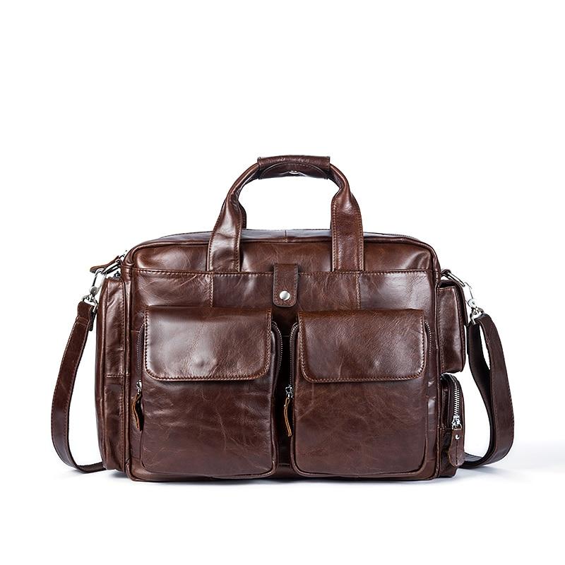 Business Men Genuine Leather Briefcases Bag Computer Bags Messenger Bag Men Laptop Handbag Tote Vintage Crossbody Bag for Men handbag
