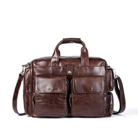 Business Men Genuine Leather Briefcases Bag Computer Bags Messenger Bag Men Laptop Handbag Tote Vintage Crossbody Bag for Men