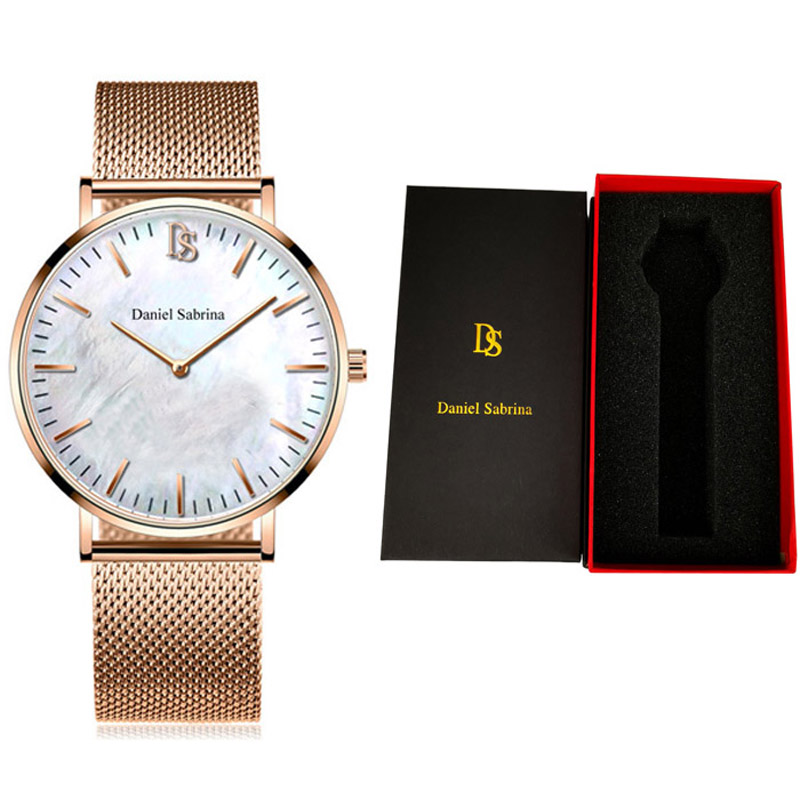 Simple Wristwatch Time Fashion Casual Life Waterproof Female Male Watches Quartz Watch Women Men Stainless Steel Strap