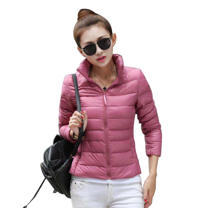 Parkas Winter New Korean Stand Collar Slim Parkas Light Thin Feather Cotton Women Short Jacket Fashion Wild Warm Coat 65831 Orders Are Welcome.