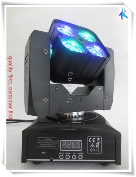 free shipping 2pcs/lot Sharpy BEAM 4x15 Mini Matrix  Moving  Head Light LED Lyre Wash RGBW 4IN1 Stage DJ Disco Effect DMX Lights free shipping hot sales 2pcs lot 19x12w led beam wash moving head light with dmx512 for professional stage dj laser projector