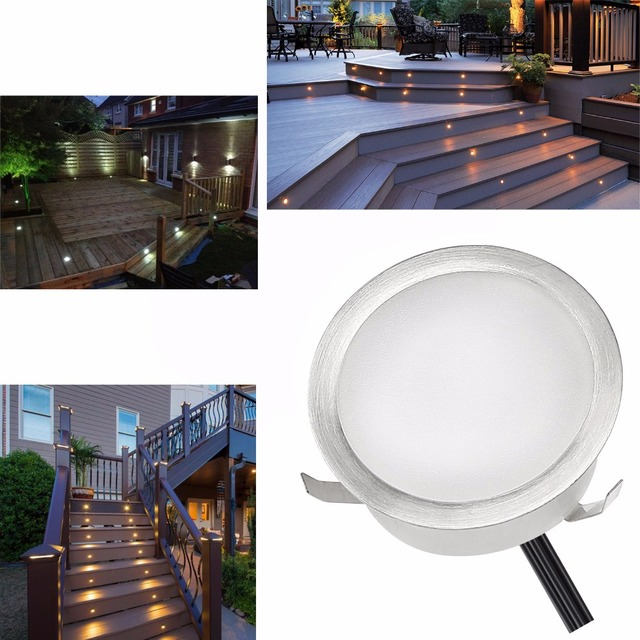 0 4w stainless steel dc 12v brick led decking lights ip67 waterproof led garden lighting deck