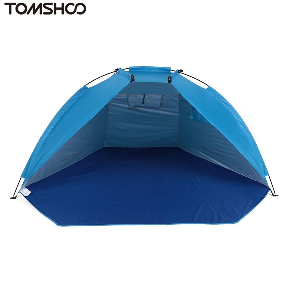 TOMSHOO пляжные Палатки переносной 2 Человек Кемпинг Палатка УФ-защита Защита от солнца приюты Тенты палатка для Рыбалка Пикник Пеший Туризм