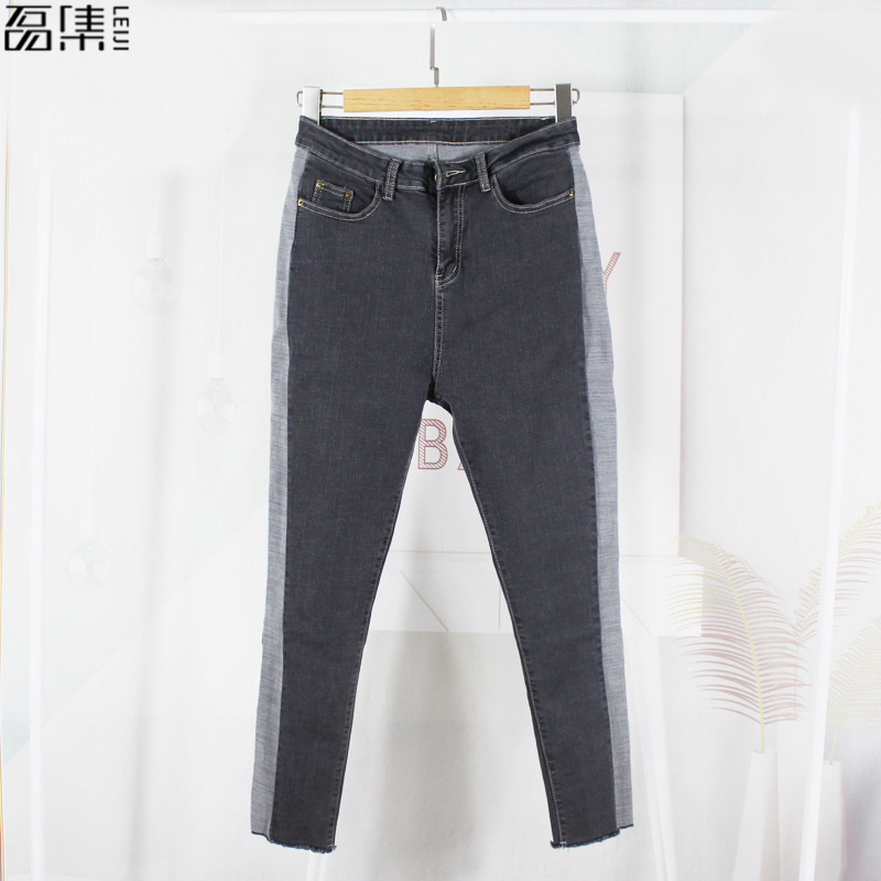 2018 spring Women   Jeans   Plus Size Ankle-Length Pant Slim Stretch Cotton Denim Trousers for woman Gary 5xl