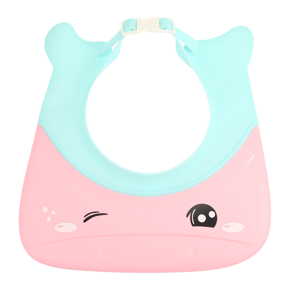 Baby Shower Cap Infant Water Resistant Ear Silicone Shampoo Hat Hair Washing Hats Child Protective Bathing Visor Shampoo