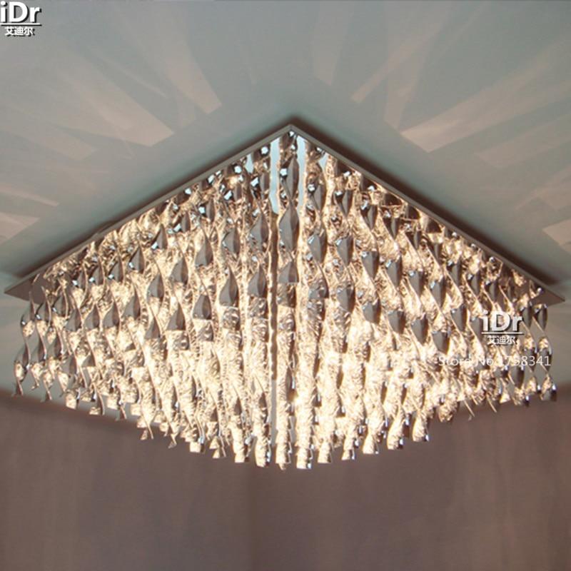 Europa arte crystal lámparas salón dormitorio luz toque creativo ...