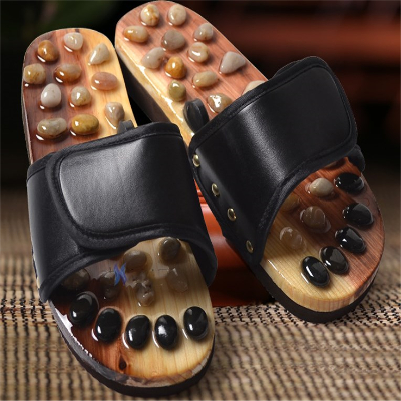 Acupoint Foot Massage Shoes Cobblestone Slippers Foot Pain Relief Relaxation Health Care Acupuncture And Moxibustion Slippers