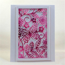 YaMinSanNiO Rectangular Frame Containing Butterflies Metal Cutting Dies for Scrapbooking Stencil Stitch New Butterfly 2019