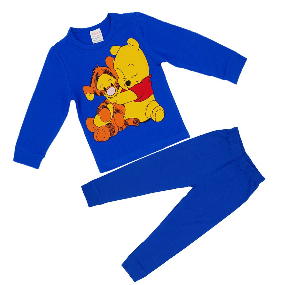 Kids Clothes Brand New Autumn/Winter Boys Girls Cartoon Cotton Set Children Clothing Sets Baby Long Sleeve T-Shirt+Pants Suits autumn boys clothing set baby boys 3pcs set outfits black jacket long sleeve t shirt denim long pant children clothes boys 4