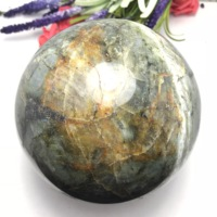 Natural labradorite Crystal polished Sphere Ball Healing crystal