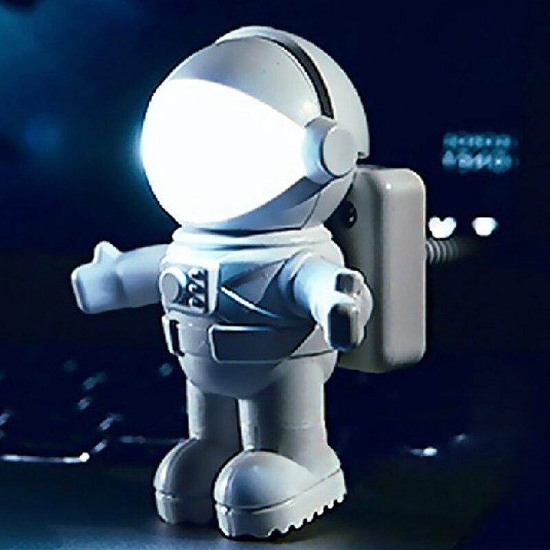 Creativo Flexible Led Lámpara De Escritorio Flexible Usb Protección De Los Ojos Teclado De Lectura Luz De Cabecera Lámpara Astronauta Hogar Sala De Estar Decoración DesempeñO Confiable