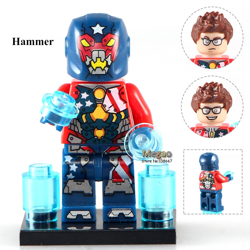 Single Sale PG149 Justin Hammer  Super Hero s 76078 DIY Dolls Building Block Kids Gifts Action Toys PG8043Model Building