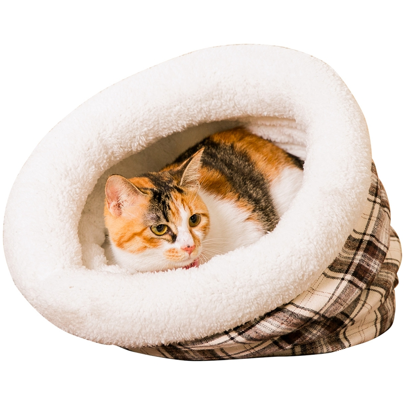 New Cat Bed Fanaticism Style Soft Material Lattice Pattern Tree Hole 2 Colors Reservatio ...