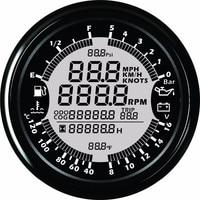 Мм 9 В 32 в 85 мм gps Спидометр Тахометр масло давление температура воды вольтметр уровень топлива одометр с подсветкой для Авто Лодка измерител