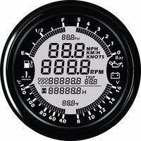 9 32 В 85 мм GPS Спидометр Тахометр нефть Давление температура воды вольтметр уровня топлива одометром с подсветкой для авто Лодка Измерительны