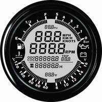 9 32V 85mm GPS speedometer Tachometer Oil Pressure Water Temp Voltmeter Fuel level ODOmeter with backlight for Auto Boat Gauges