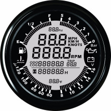 9-32V 85mm GPS speedometer Tachometer Oil Pressure Water Temp Voltmeter Fuel level ODOmeter with backlight for Auto Boat Gauges