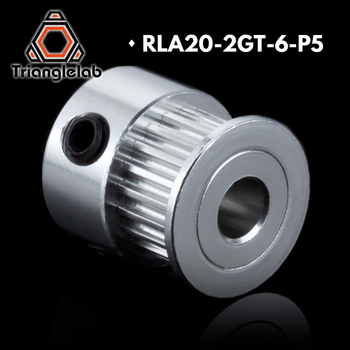 Trianglelab 2GT 20 teeth Aluminum Timing Pulley Belt Pulley GT2 6mm P5MM  P8mm  for 6mm synchronous belt Gear Wheel Sprocket customized factory directly best price htd8m pulley & timing belt