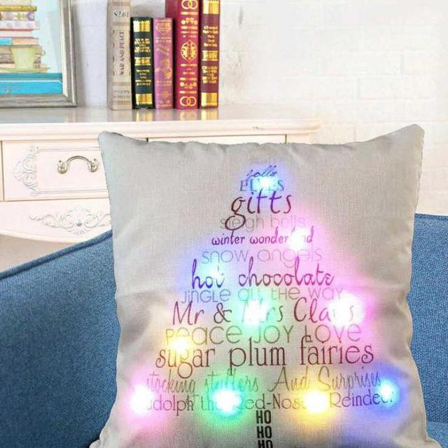 Led Star Nightmare Before Christmas Pillow Case Cushion Cover Square