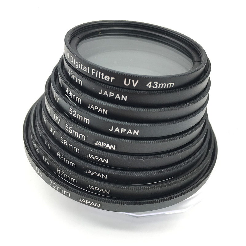 Camera Filter lens 49mm-72mm 37MM 49MM 52MM 55mm 58mm 62mm 67mm 72MM UV Filter For Canon nikon sony Pentax SLR premium uv camera lens filter 67mm