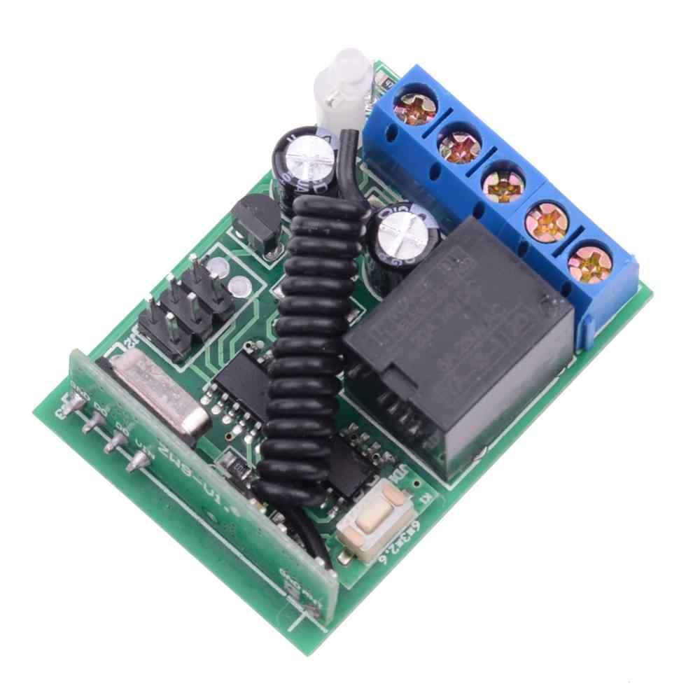 433 MHZ DC 12 V 5A 1 قناة لاسلكية مفتاح بالتحكم عن بعد 12 V الوصول البعيد التحكم نظام استقبال مع تأخير الوقت وظيفة 3 S 5 S 10 S