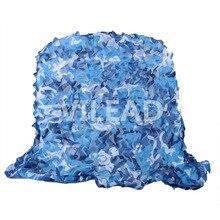 Купить с кэшбэком 4M*7M filet Camo Netting blue camouflage netting camo tarp sun shelter for celebration decoration car covers event decoration