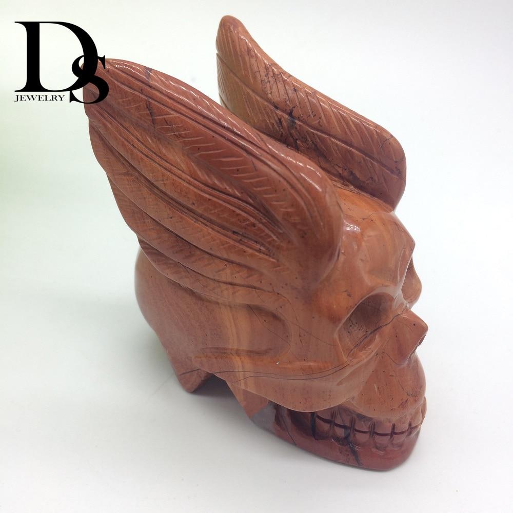 3 Inch Natural Red Jasper Gemstone Chakra Reiki Hand-Carved Elephant Statue Gift