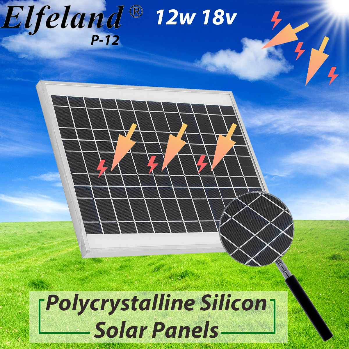 KINCO 12W 18V Polycrystalline Silicon Solar Panels High Conversion Rate And Output DIY Solar System For Car Battery RT Boat