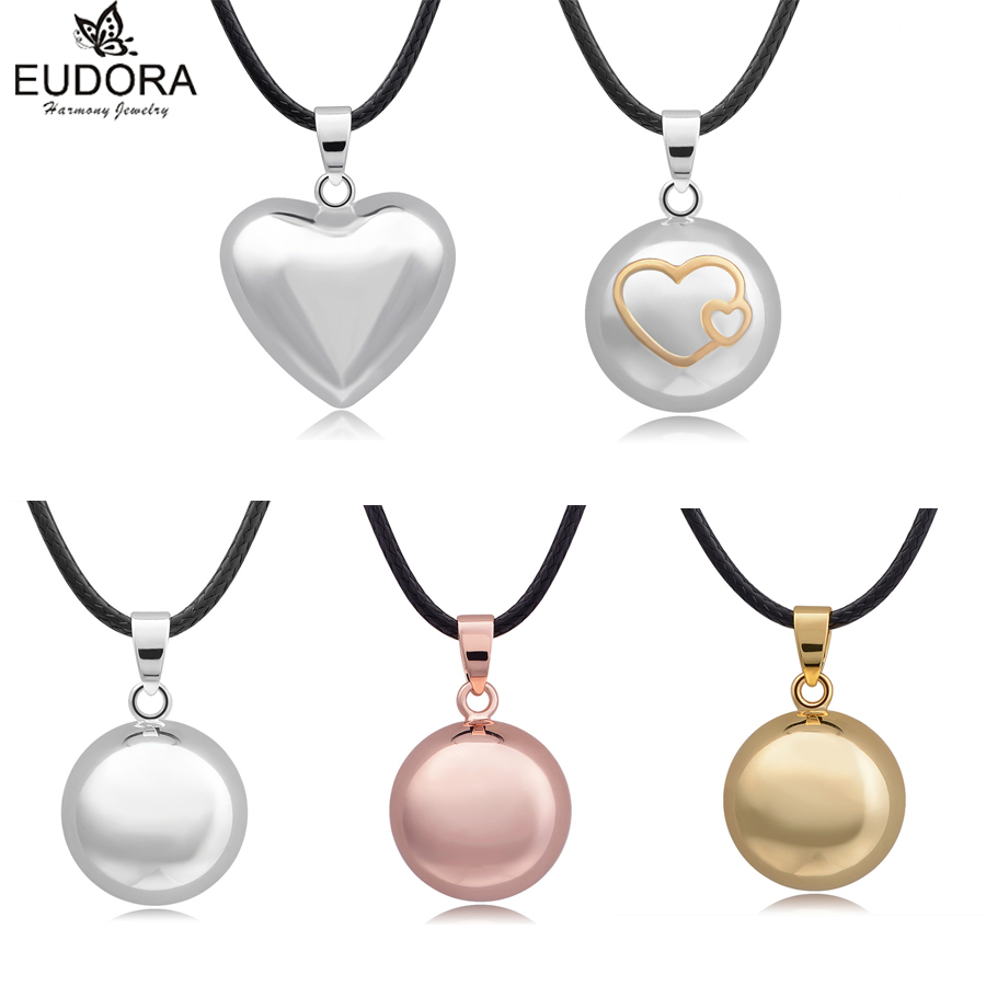 Eudora Harmony Ball Mix Style Angel Caller Chime Sound Bola Balls Pendant Necklace for Pregnant Women Gift  Charm DIY Jewelry