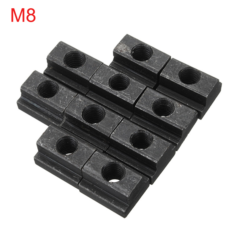T Slot Nuts 5pcs//Set M12 Threads Black Oxide Finish T Slot Nuts Fit Into T-Slots in Machine Tool Tables Woodworking