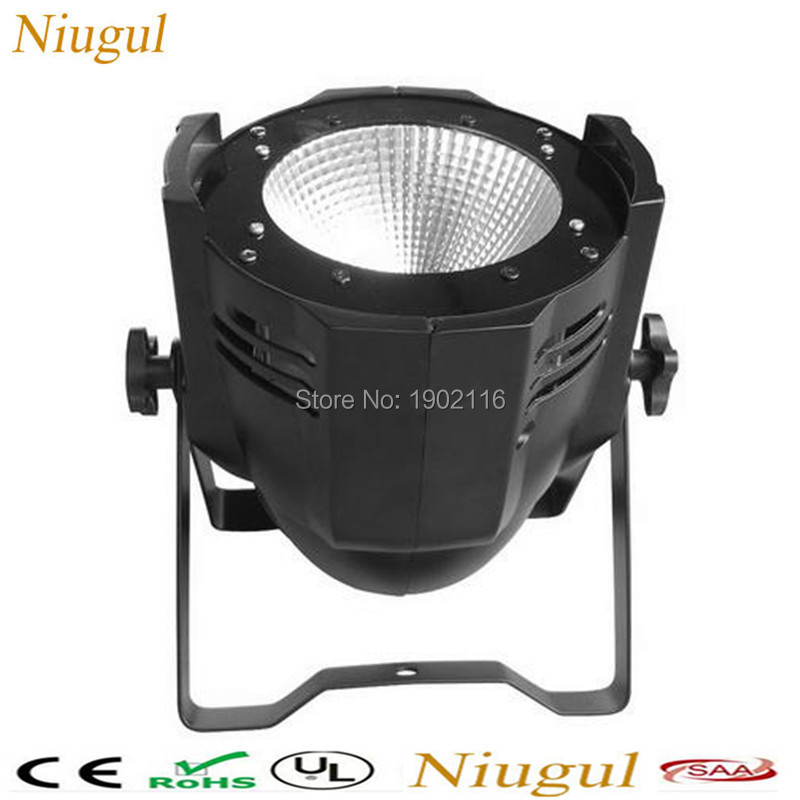 Niugul 100W COB LED PAR DMX Theater Spotlight warm white and White DMX512 LED Stage Lighting Projector led par 100w COB light litewinsune cw ww 100w cob led par can lighting 3200k 5600k wash stage lighting 6pcs