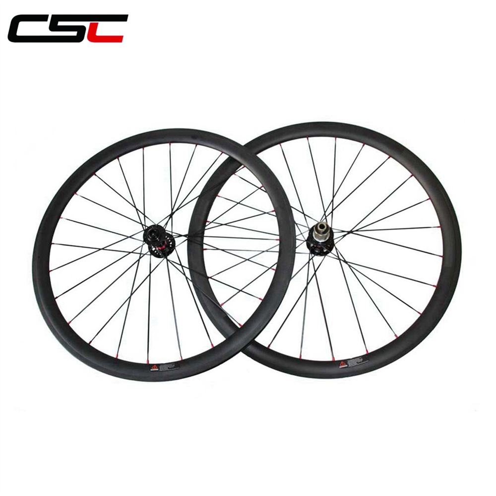 carbon road bike U wheels 6 Bolt Disc brake 700C 25 width 30 38 40 50