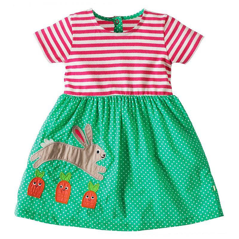 Girls Summer Dress 2018 Brand Striped Cotton Baby Unicorn Dress Princess Costume Children Vestidos Kids Dresses for Girls