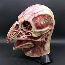 Raven Skull Plague Doctor Bird Mouth Punk Anatomy Blood Masks Latex Horror Scary Mask halloween mascaras maske  Animals