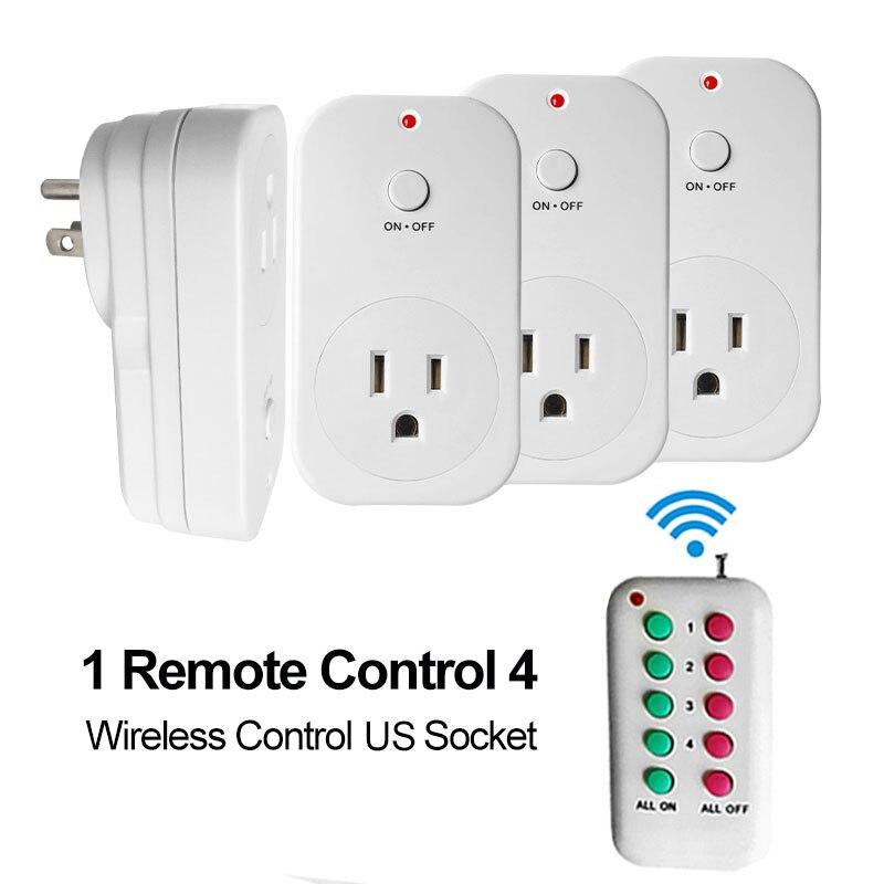 Toma de Control Inalámbrico RF RF433 EE. UU. Plug Toma de corriente de Control R
