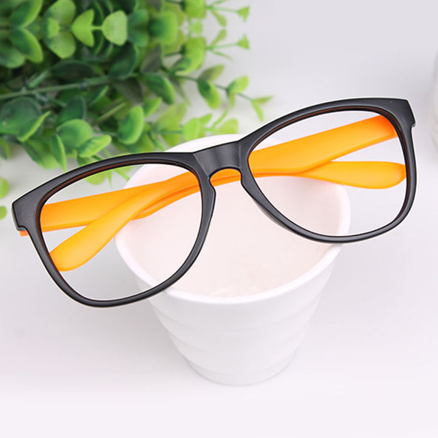 15f652752e0f1 Myopia glasses frame male Women non-mainstream leopard print ultra-light  big black plain mirror box eye box