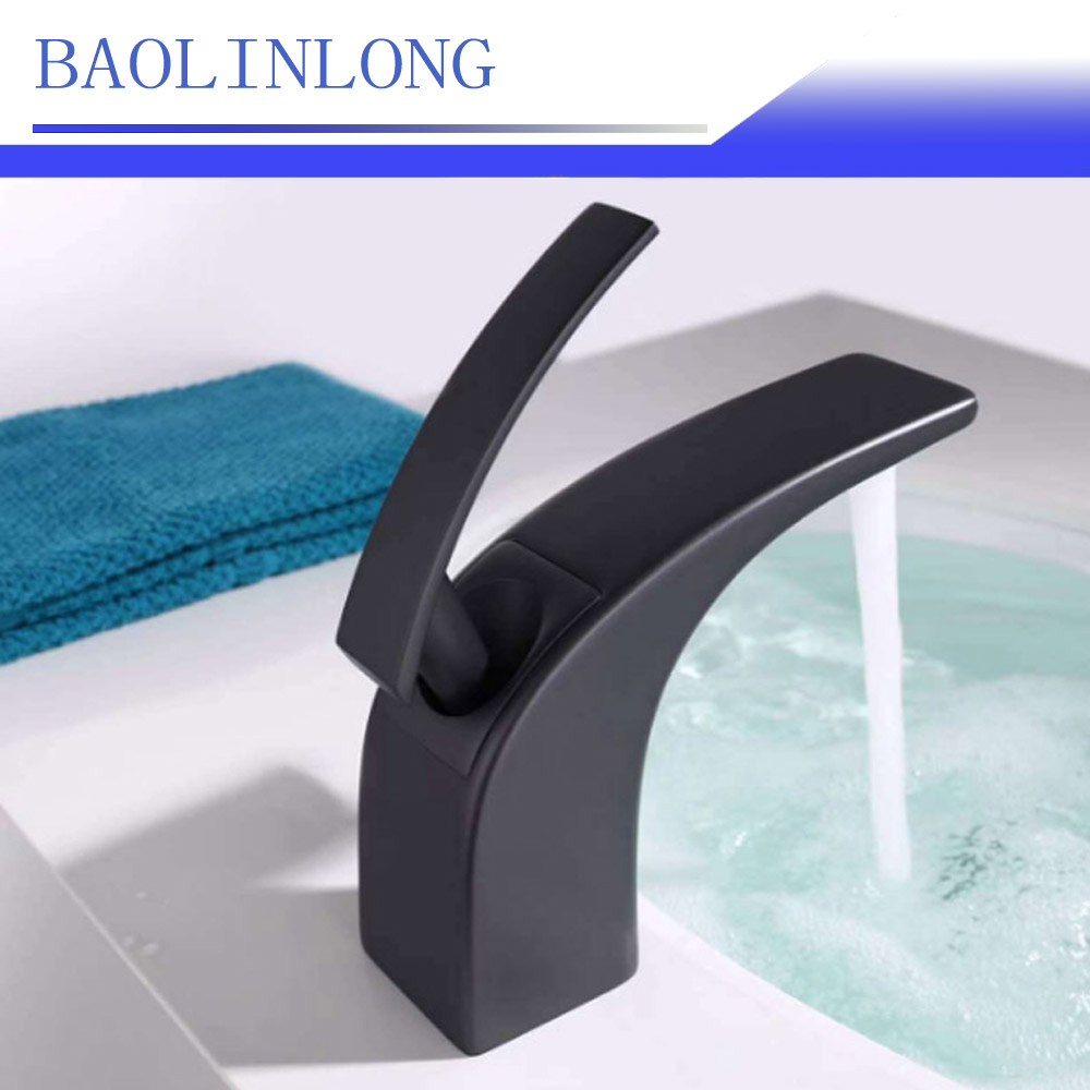 BAOLINLONG New Style Brass Deck Mount Bathroom Faucet Vanity Vessel Sinks Mixer Tap