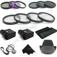100% GUARANTEE 58MM Macro Close Up Set + UV CPL FLD/ ND 2 4 8 Filter Kit for Canon EOS 1100D 1000D 650D 600D 18 55mm Lens + Hood