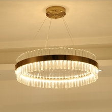 hot deal buy post-modern simple fashion luxury round chandelier living room restaurant bedroom crystal lamp led lustre chandeliers luminaire