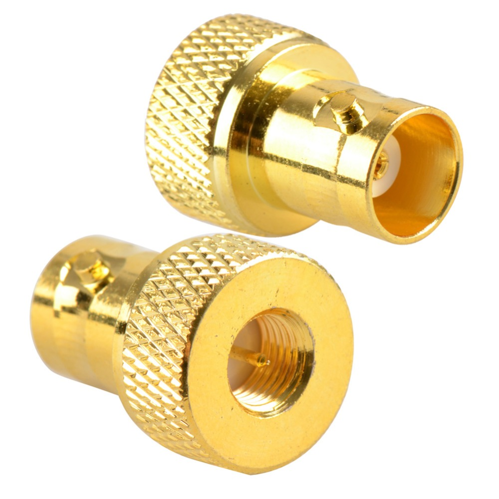 2016 New Adapter BNC Female Jack To SMA Male Plug RF Connector Straight Gold Plating Brass VC527 P0.5 1pc adapter n plug male nickel plating to sma female gold plating jack rf connector straight vc720 p0 5