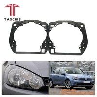 Taochis Retrofit adapter frame Headlight Bracket for VW Volkswagen Golf 6 Hella 3R G5 5 Koito Q5 Projector lens
