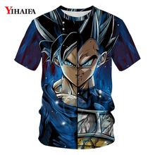 T Shirt Mens Womens Vegeta Dragon Ball Z T-shirt Goku 3D Print T-shirts Casual Tees Unisex Cartoons Tops