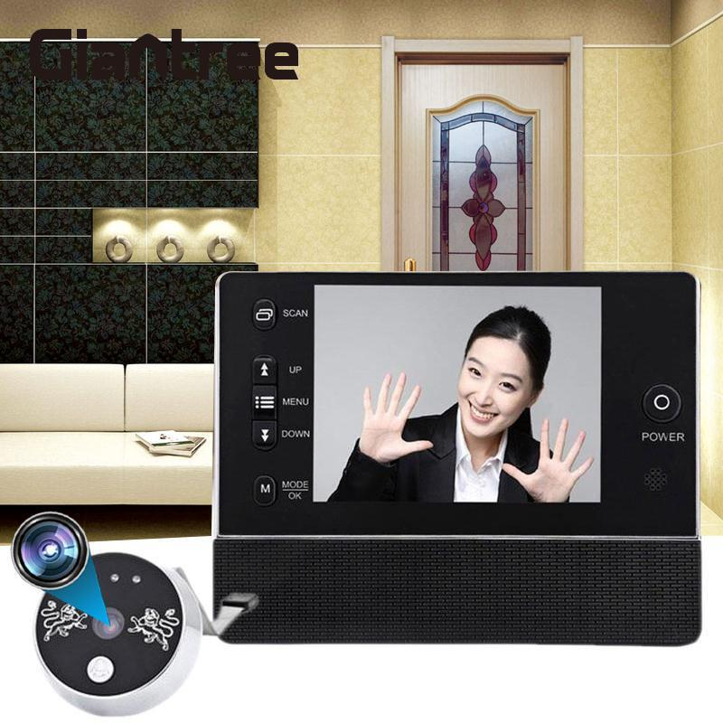 Giantree 3.5 LCD Screen Monitor Door Peephole Viewer Camera Video Door Phone Video Recorder IR Camera Doorbell door eye camera
