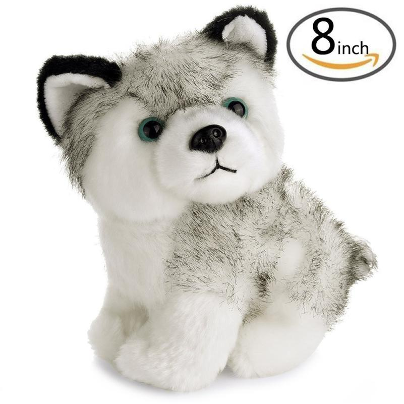 New cute dog soft 8inch Lovely Plush Dog Siberian Husky Soft Stuffed Animal Puppy Toy Dolls H35 SEP20