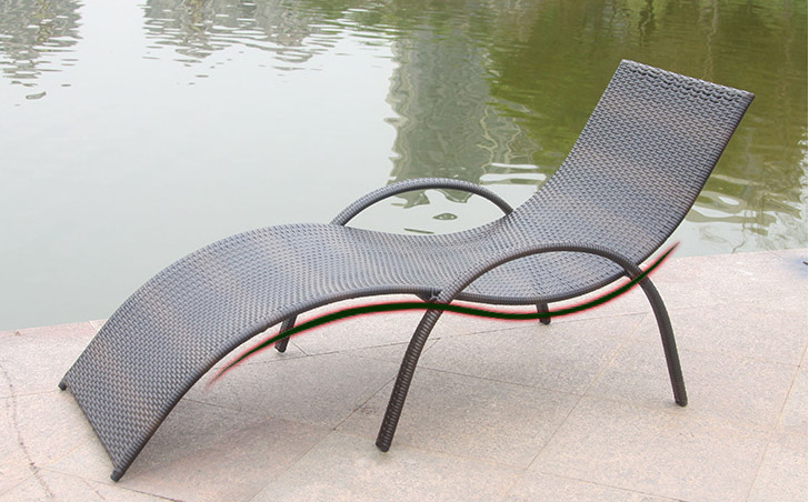 Outdoor PE Rattan Wicker Chairs Beach Lying Bed Leisure S Type Hotel Pool  Side Lying Rattan Furniture In Sun Loungers From Furniture On  Aliexpress.com ...