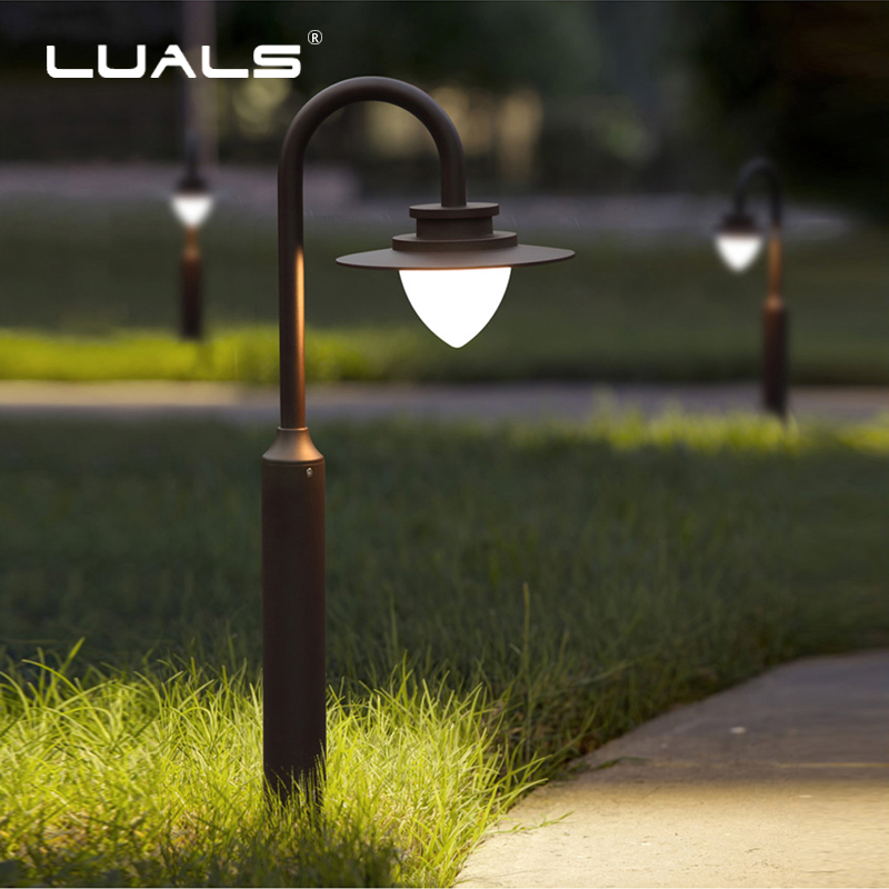 Us 286 4 20 Off Outdoor Garden Lighting Led Lawn Lamp Modern Landscape Light Aluminum Body Waterproof Lamps Art Deco In