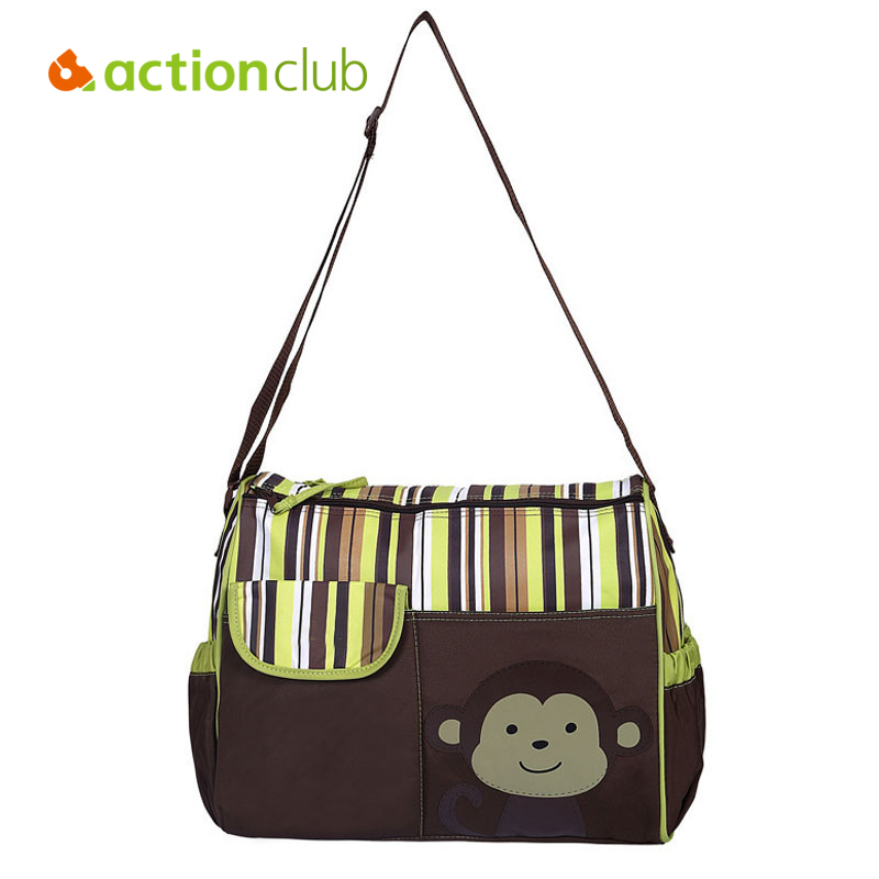 Actionclub artoon Diaper Bags Maternity Stroller Bag Bolsa Maternidade Mochilas Waterproof Baby For Mom Changing