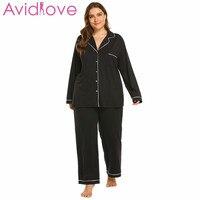 Avidlove Autumn Winter Women Warm Pajamas Set Plus Size XL_5XL Sexy Pajamas Sleepwear Sleeveless Strap Nightwear Long Pant Robe