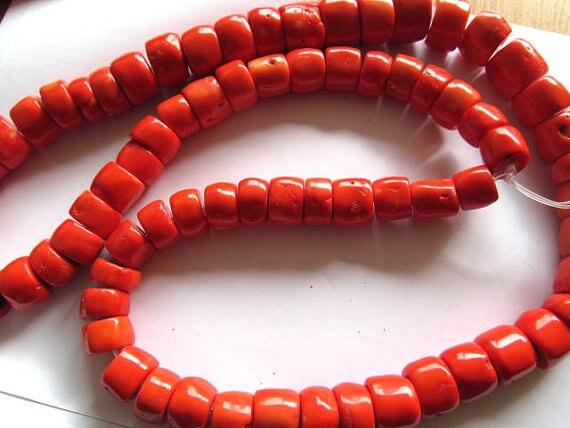 40 pouces 15-20mm à la main océan corail baril tambour colonne oranger rouge saumon rose blanc mélangé bijoux perles